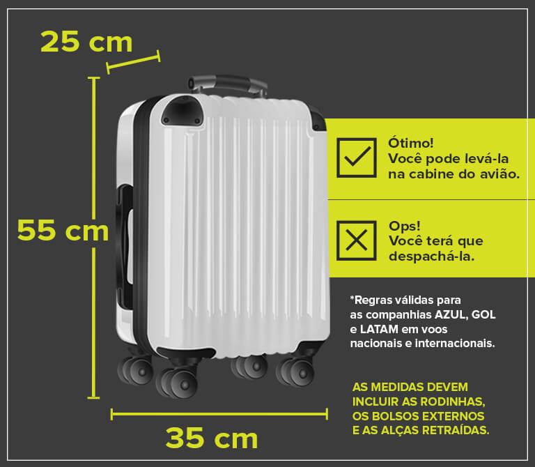 Medidas bagagem de mão - ABEAR
