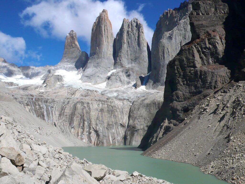 Foto de lago no Parque Nacional Torres del Paine